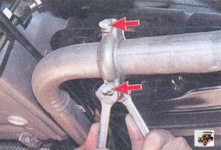 гайки хомута крепления труб основного и дополнительного глушителей Лада Приора ВАЗ 2170