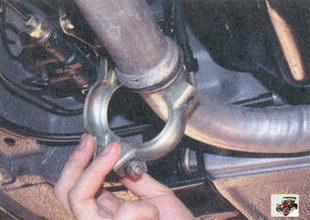хомут крепления труб основного и дополнительного глушителей Лада Приора ВАЗ 2170