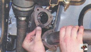фланец приемной трубы дополнительного глушителя Лада Приора ВАЗ 2170