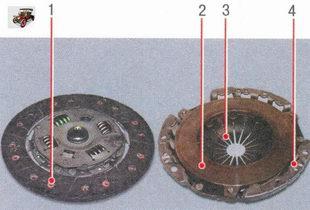 сцепление Лада Приора ВАЗ 2170 в разобранном виде