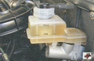 проверка уровня тормозной жидкости в тормозном бачке