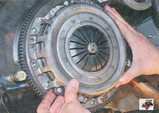 установка корзины сцепления Лада Приора ВАЗ 2170