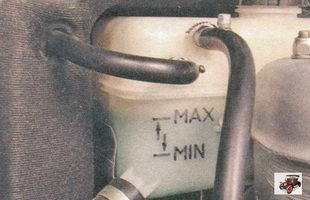 проверка уровня охлаждающей жидкости в расширительном бачке