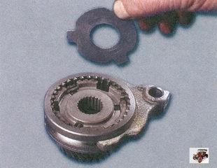 синхронизатор; упорная пластина; вилка