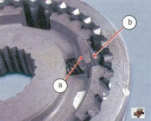 а - проточки; b - сферическая (большая) поверхность