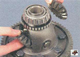 полуосевые шестерни; корпус дифференциала