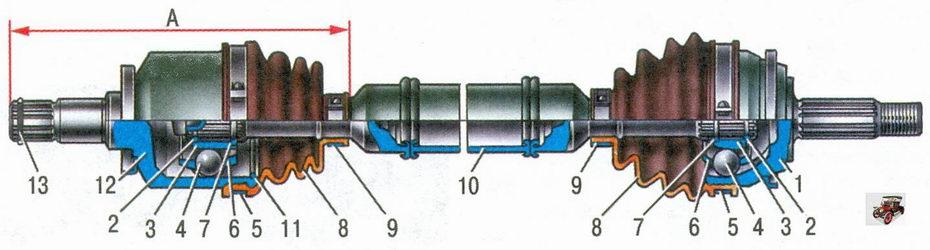 привод переднего колеса Лада Приора ВАЗ 2170