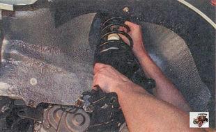 снятие телескопической стойки Лада Приора ВАЗ 2170