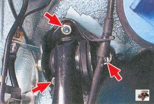 гайки крепления кронштейна задней балки Лада Приора ВАЗ 2170