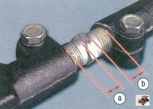 регулировка наконечника рулевой тяги
