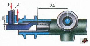 проверка зазора между упором рулевой рейки и гайкой