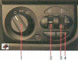 блок управления наружным освещением и освещением приборов Лада Приора ВАЗ 2170