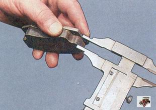 проверка толщины фрикционной накладки