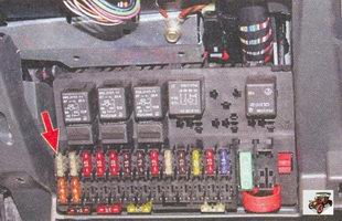 предохранитель вентилятора системы охлаждения двигателя