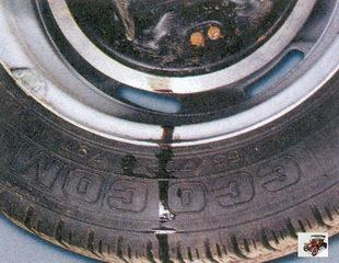 потеки тормозной жидкости на внутренней стороне колеса