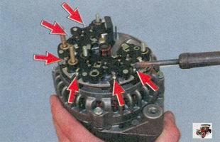 выводы статорной обмотки генератора
