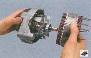статор, крышка генератора