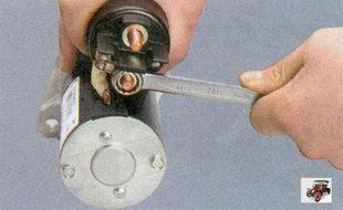 гайка крепления шины к контактному болту