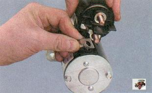 шина контактного болта тягового реле стартера