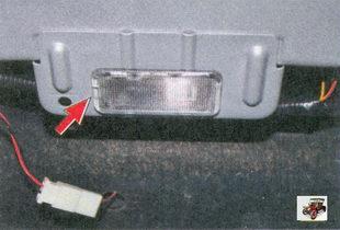 плафон освещения багажника