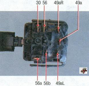 номера контактов переключателя указателей поворота и света фар