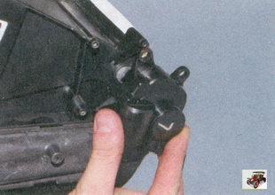 блок и датчик положения заслонки отопителя салона