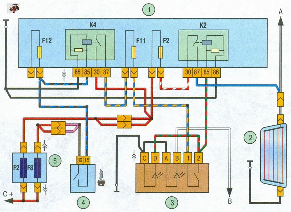 Схема включения элемента
