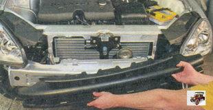 балка переднего бампера
