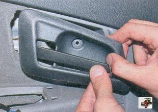 облицовка внутренней ручки передней двери