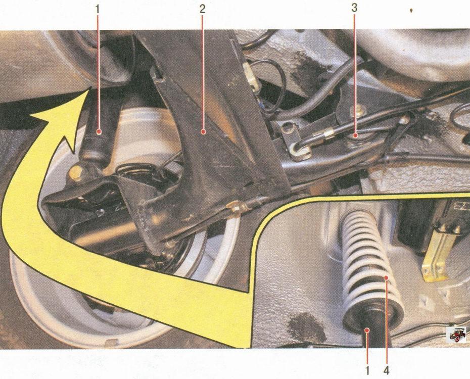 детали задней подвески автомобиля лада приора ваз 2170