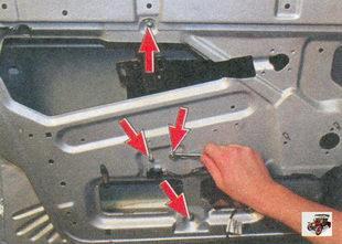гайки крепления направляющей механизма стеклоподъемника