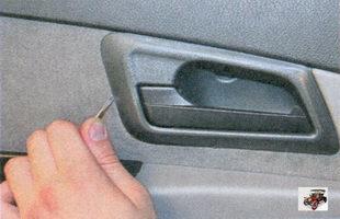 облицовка внутренней ручки задней двери