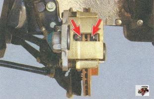 проверка состояния тормозных колодок лада приора ваз 2170