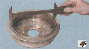 проверка диаметра рабочей поверхности тормозного барабана лада приора ваз 2170