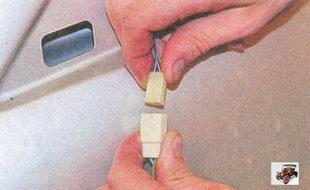 разъем проводов регулировки зеркала заднего вида