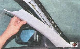 передняя облицовка стойки кузова