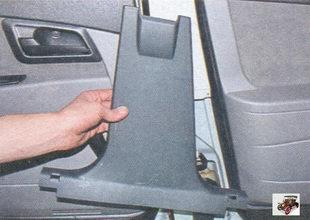 нижняя облицовка стойки кузова