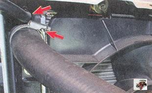 верхний подводящий шланг, пароотводящий шланг радиатора лада приора ваз 2170