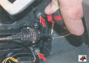 винты крепления моторедуктора заслонки распределения воздушного потока