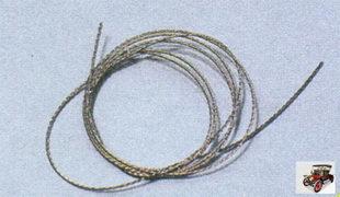 стальная струна для снятия вклеенного лобового, заднего или боковых стекол