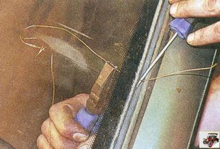 снятие лобового стекла