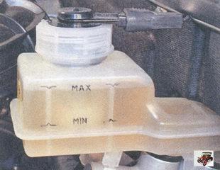 проверка уровеня тормозной жидкости в бачке главного тормозного цилиндра лада приора ваз 2170