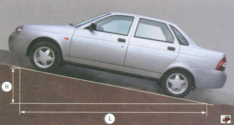 проверка стояночного тормоза на автомобиле лада приора ваз 2170