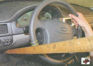 проверка свободного хода (люфта) рулевого колеса на автомобиле лада приора ваз 2170