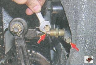 стяжные болты для регулировки схождения передних колес на автомобиле лада приора ваз 2170