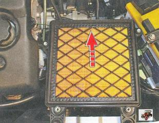 установка воздушного фильтра