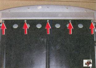 гайки крепления передней части защиты картера двигателя Лада Приора ВАЗ 2170