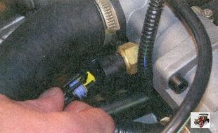 разъем жгута проводов датчика температуры охлаждающей жидкости Лада Приора ВАЗ 2170