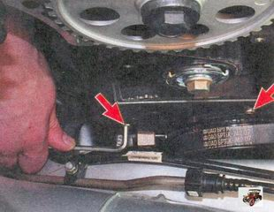 болты крепления нижней передней крышки ремня привода ГРМ Лада Приора ВАЗ 2170
