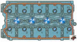 порядок затяжки болтов крепления головки блока цилиндров Лада Приора ВАЗ 2170